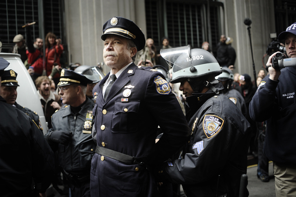 ret. Philly chief of police Ray Lewis, being arrested during OWS